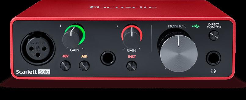 Focusrite – Scarlett Solo 3rd Gen USB Audio Interface – Gerald Musique